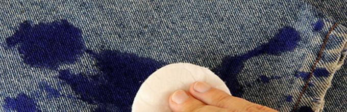 Как отмыть пятна от шариковой ручки от джинса фото