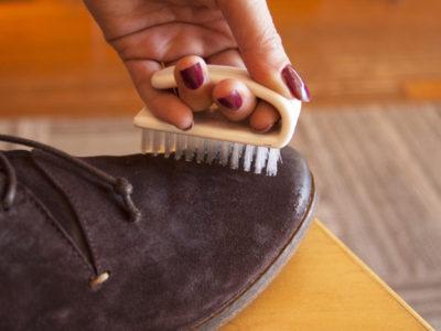 Удаление пятен с обуви фото