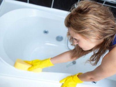 Чистка акриловой ванны в домашних условиях