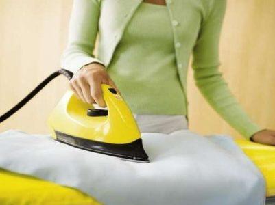 Как убрать след от утюга на одежде: удаляем пятно с ткани